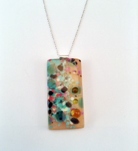 Designer Glass Jewellery Pendant by Eleanor Watson