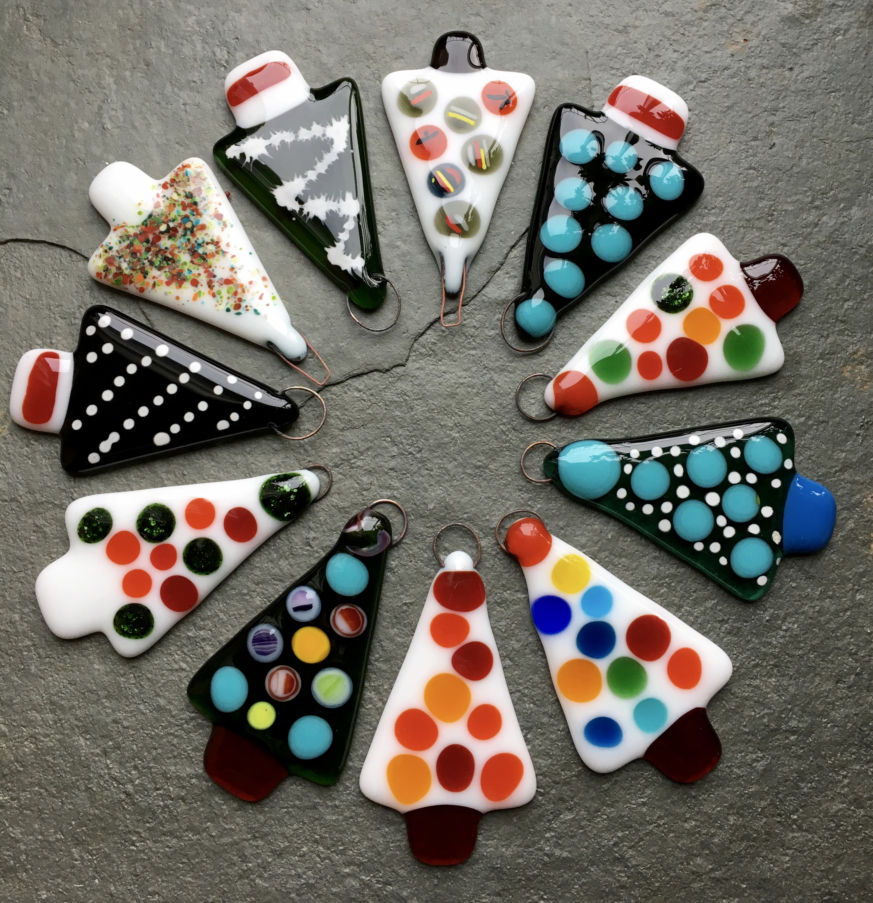 Fused Glass Christmas decorations for beginners